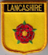 Lancashire Embroidered Flag Patch, style 07.
